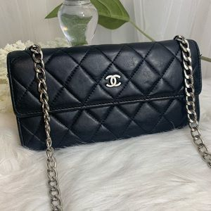 Authentic Chanel wallet with chain added